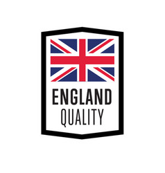 England quality isolated label for products vector