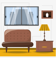 furniture concept design vector image vector image