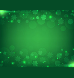 Green clover background vector