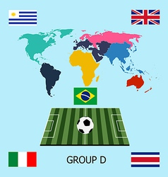 Group d - uruguay costa rica england italy vector