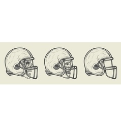 Helmet for game in the American football vector image