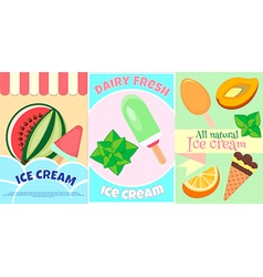 Ice Cream Posters Fruits and Dairy Fresh ice cream vector image vector image