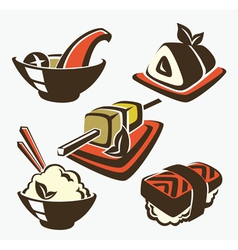 japan food vector image vector image