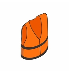 Life jacket icon isometric 3d style vector