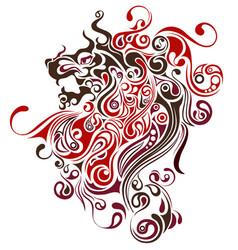 lion image design tattoo emblem logo vector image