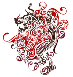 Lion image design tattoo emblem logo vector