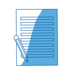 Paper sheet with pencil writing image vector