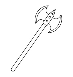 Poleaxe icon outline style vector image