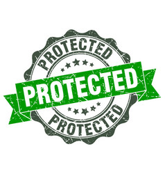 Protected stamp sign seal vector