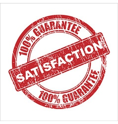 Satisfaction stamp vector