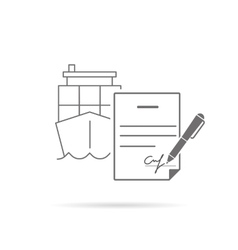 Signing contract vector image vector image