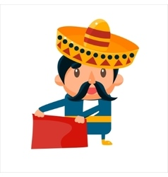 Spanisht toreador in traditional clothes vector