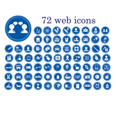 stylized web icons vector image vector image