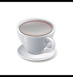 tea cup over white background vector image vector image