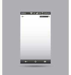 template display smartphone icon vector image vector image