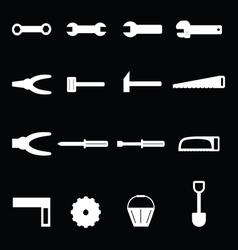 Tools icon set vector