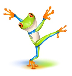 Tree frog dance vector