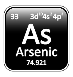 Periodic table element arsenic icon vector image