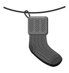 Wool socks icon gray monochrome style vector