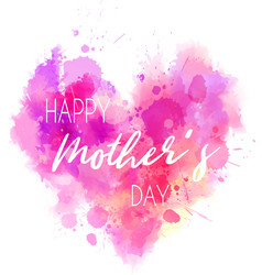 Mothers day holiday heart vector