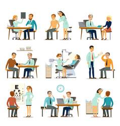 Medical examination collection vector