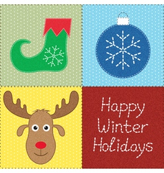 Christmas patchwork vector