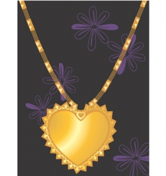 golden necklace vector image