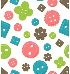 seamless button pattern vector image