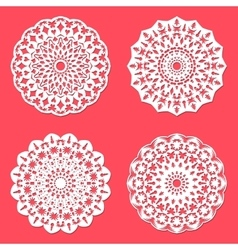 Set of snowflakes for Christmas design vector image