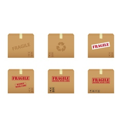 collection of cardboard boxes vector image