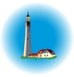 Lighthouse evening image vector