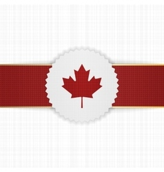 Canada paper label with red ribbon vector