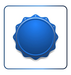 Seal award blue icon vector