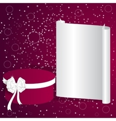 Elegant festive red background with gray banner vector