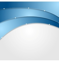 Abstract blue grey wavy corporate background vector