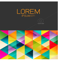 abstract colorful geometric layout template and vector image