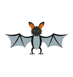 Bat icon flat vector