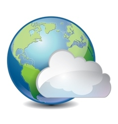 cloud based sharing global concept icon vector image vector image