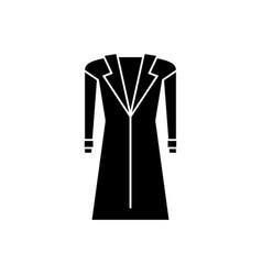 coat - topcoat icon black vector image