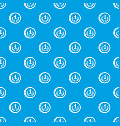Coin pattern seamless blue vector
