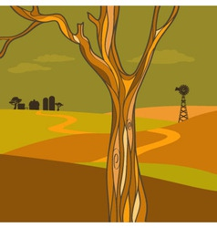 Countryside at fall vector