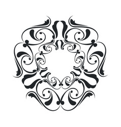 Decorative frame vintage elegant flourish image vector