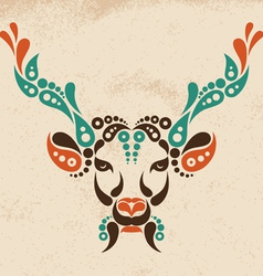 Deer tattoo symbol decoration vector