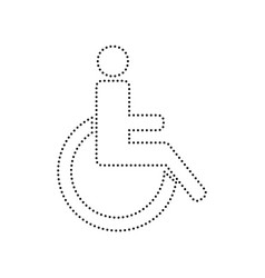 Disabled sign black dotted vector
