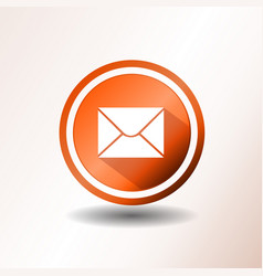 Email icon in flat design vector
