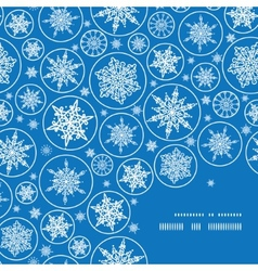 Falling snowflakes frame corner pattern background vector