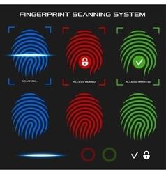 Finger print scanning system vector