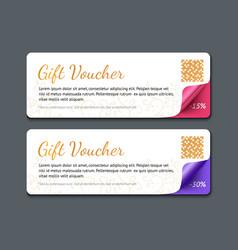 Gift voucher template realistic vector