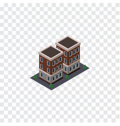 Isolated home isometric house element can vector