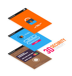 Isometric mobile app ui design concept vector